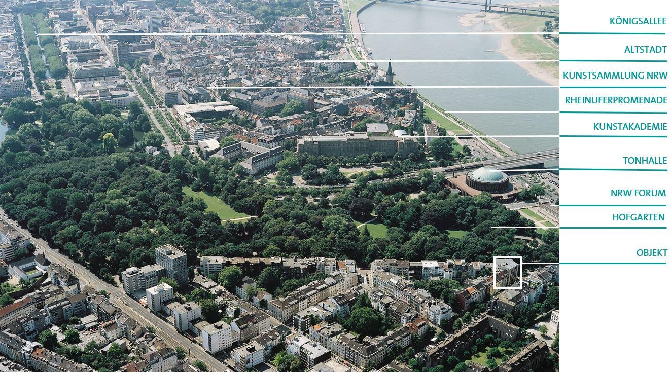 Erstklassige Lage! Repräsentative Bürofläche am Hofgarten mit Blick zum Rhein