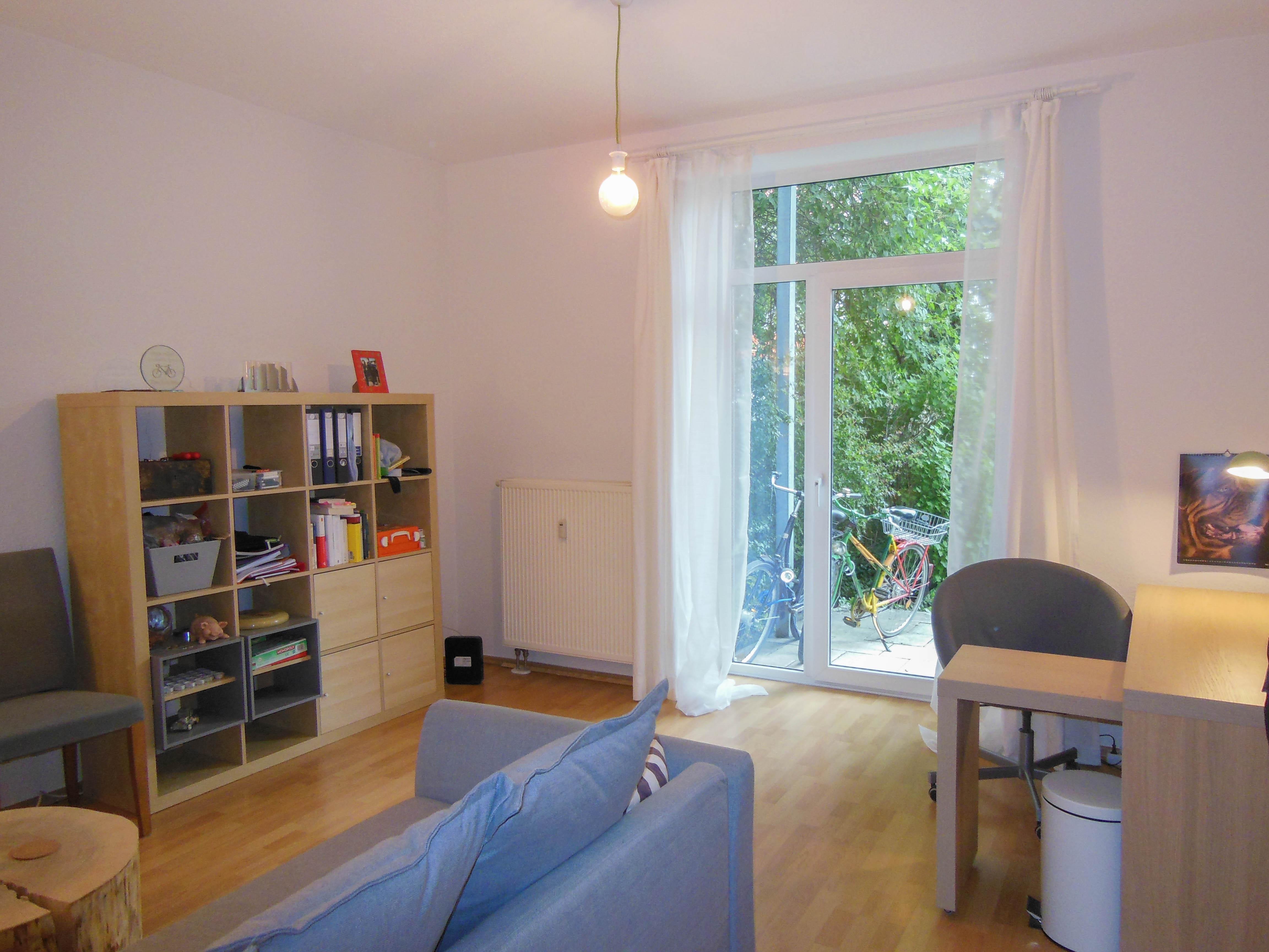 Gepflegte 2 Zimmer Wohnung mit Terrasse und Garten inmitten der Krämpfervorstadt