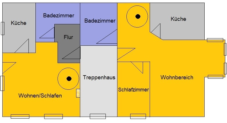 Achtung Kapitalanleger - vermietete 2 Raum - Eigentumswohnung über zwei Etagen in Märkisch Buchholz