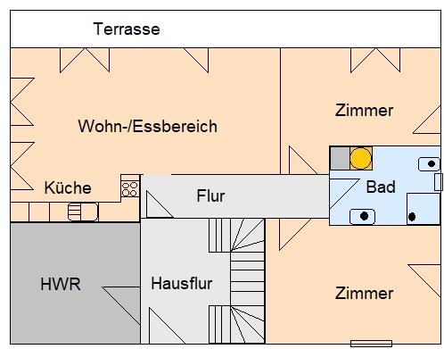 ERSTBEZUG wunderschöne moderne 3-RWE mit Terrasse im Grünen