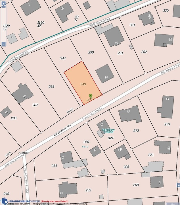 500 qm Einzelgrundstück in 1-A-Lage - Schildow
